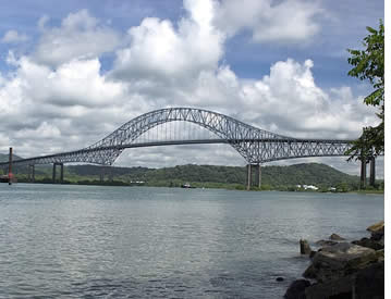 The Americas Bridge above the Panama Canal