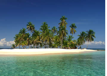 Your typical island in San Blas, Panama