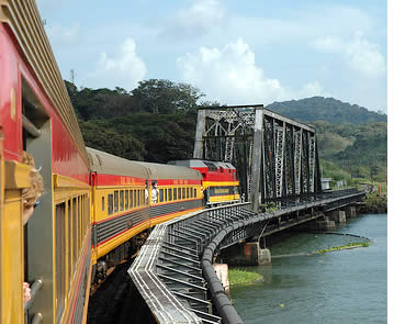 Train from Panama City to Colon passing by the Panama Canal