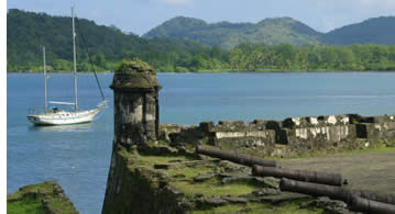 The City of Portobelo was attacked many times by pirates and some ruins remain